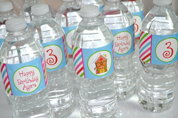 Water Bottle Decoration Classy Gingerbread Party Water Bottle Labels Holiday Winter Decorating Inspiration
