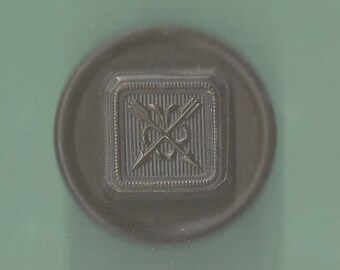 1800S Goodyear Rubber Button Pin