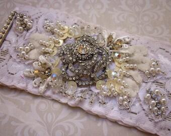 Ivory Bridal Cuff