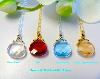 Bridesmaid Gifts Necklace Jewelry - Crystal Drop Necklace - Wedding Jewelry - Bridal Party Gifts