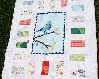 Wrenly Baby Bird Applique Quilt - Free Shipping