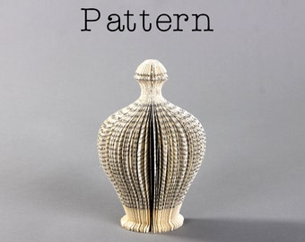 DIY Pattern or template for the book sculpture - The Perfume I