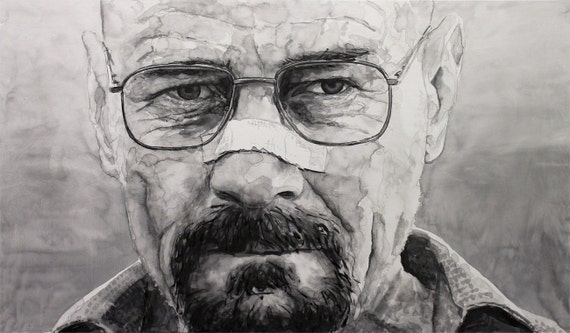 Walter White Triumphant - India Ink on Panel