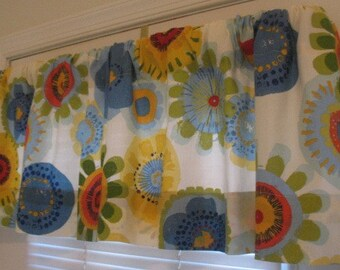 SALE  Window Curtain-Valance Confetti White Indoor/Outdoor