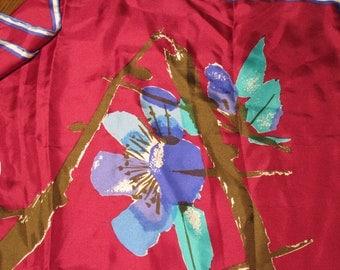 SALE - Gorgeous Vera Neumann Ladybug Vintage Burgundy Blue