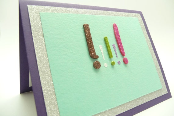 Birthday Card for Her, Glitter Birthday  Card, Card for Girl, Card for Teen, Handmade Paper Greeting Card