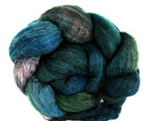 hand painted roving, fiber merino, yak, combed top, spinning fibers, felting fibers