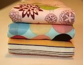 Starling bird boutique burp cloth set