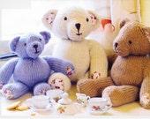 Teddy Bear ToY KnITTING PaTTERN TEDDY BEARS CutE FaMiLY oF Three Teddy Bears to KNiT Original