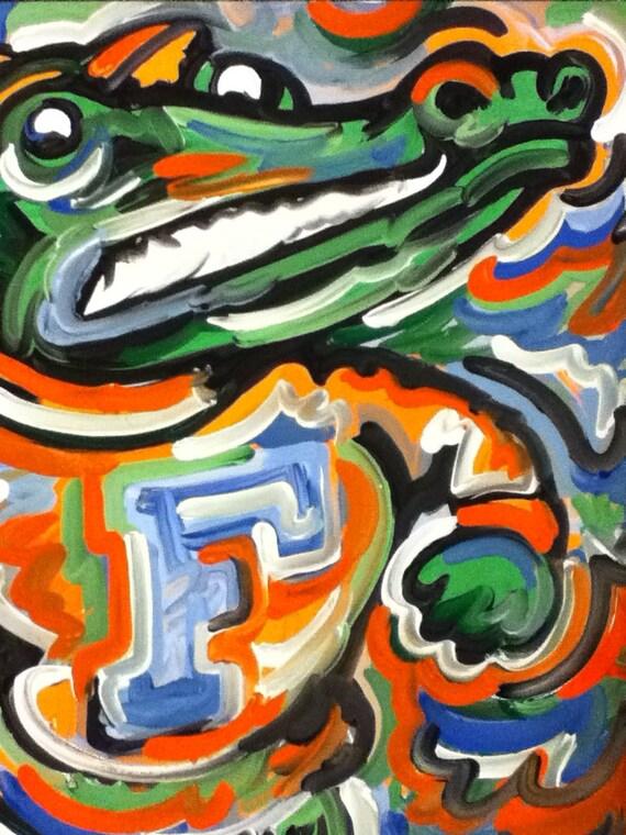 Florida Gators Painting by Justin Patten Sports Art