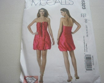 Pattern Ladies Party Dress Sizes 12 to 18 McCalls 6323