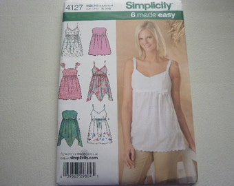 Pattern Ladies Tops 6 Styles Sizes 6 to 14 Simplicity 4127 A