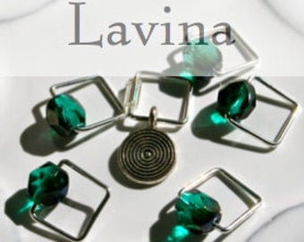 Ms. Lavina Swire, Inspired by Downton Abbey . . . Stitch Marker Set