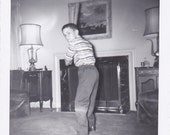 Vintage Photo - Boy With Bat - Vintage Photograph, Vernacular, Found Photo, Ephemera (V)