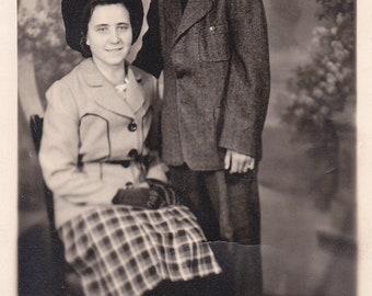 Mother and Son - Vintage Photograph, Vernacular, Found Photo, Ephemera (G)