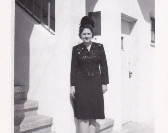 Vintage Photograph - Lovely Lady, Vernacular, Found Photo, Ephemera (M)