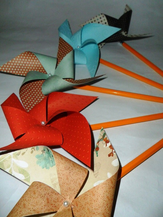 Vintage Sweet Pinwheels Set of 12 for a Birthday Party or a Baby Shower or a Bat Mitzvah