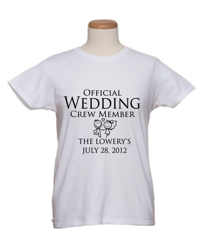 Bridal t shirts official wedding crew member by for Wedding dress t shirt designs