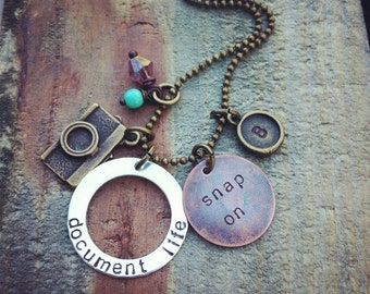 mixed metal - document life - snap on - ... NEW mixed metal Photographer necklace