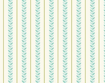Verona Teal Stripe by Emily Taylor Design for Riley Blake, 1 yard