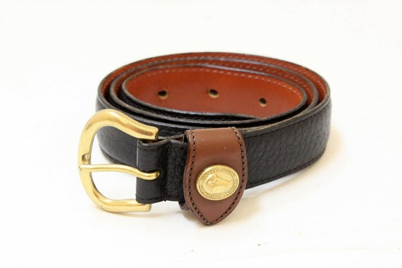 Vintage  Dooney and Bourke Navy Color Pebble Leather, All Weather Leather Women's Belt // Size Small 26-28