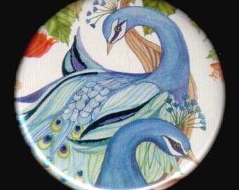 Pair of Peacocks Button