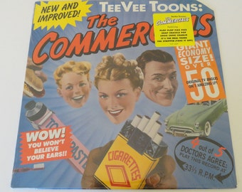 "Rare ""Tee Vee Toons: The Commercials"" Vinyl Soundtrack (1989) - Sealed"