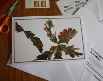 Oak Leaves Card
