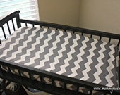 Gray, Hot Pink, Yellow, Black or Teal and White Chevron Changing Table Pad Cover for Your Baby's Nursery - Solid - By Mommy Moxie on Etsy