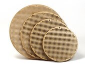 """3.5"""" wooden cross stitch or needlepoint blank disc - diy"""