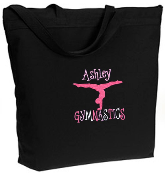 Personalized Black ECO Recycled Poly Tote Bag, Ballet, Dance, Gymnastics, Acro Free Shipping