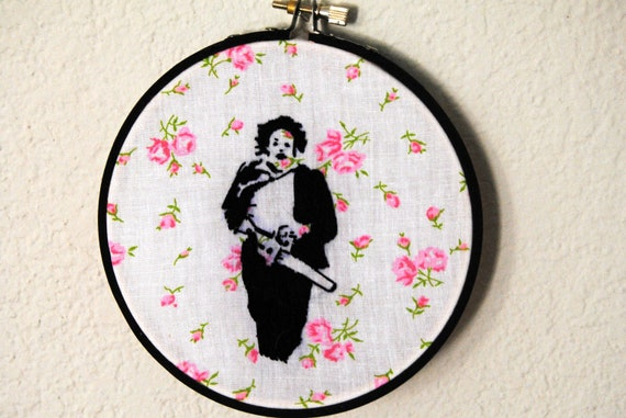 Ready-To-Hang Texas Chainsaw Massacre embroidery