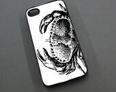 The Crabbiest Crab - iPhone 5 Case - Iphone 4 / 4s Case - Crazy Crustacean Iphone Cover