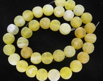 Beautiful Yellow Weathering Agate Round Loose Beads 10mm