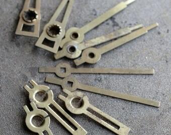 Assorted vintage clock hands -- set of 10 -- D5