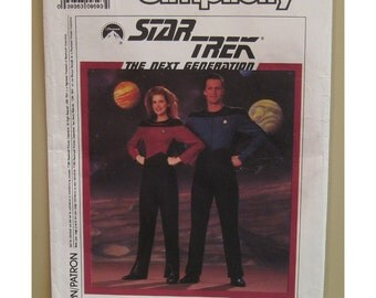 "Womens Star Trek Next Generation Costume Pattern, STNG, Vintage Simplicity No. 9394 Womens Size 6 Bust 30.5"""