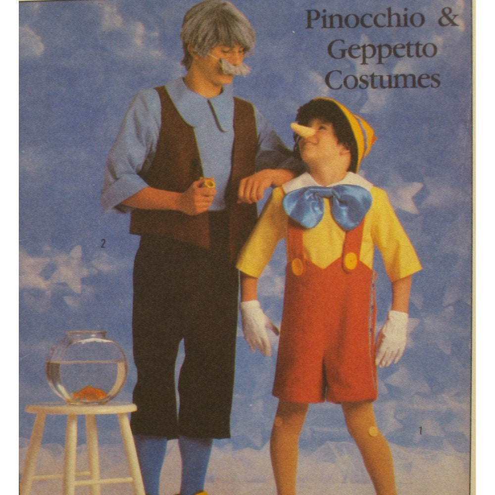 Pinocchio geppetto costumes pattern walt disney for Pinocchio hat template