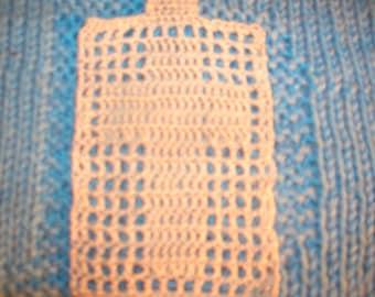 Bookmark Cross Design Crochet Cotton Off White Filet