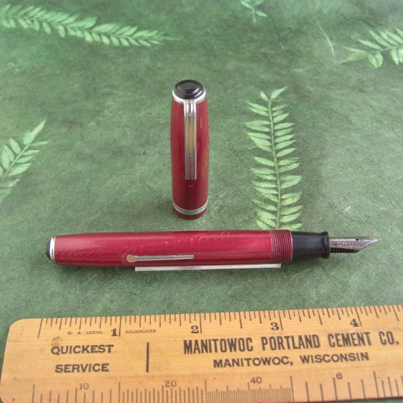 Vintage Red Esterbrook Fountain Pen - Working