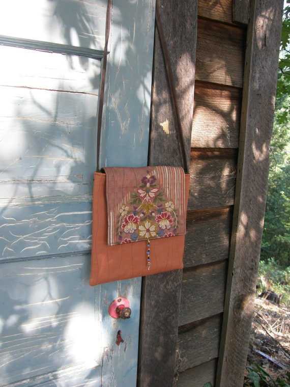 JAPANESE FLORAL Quilted Cross Body Bag