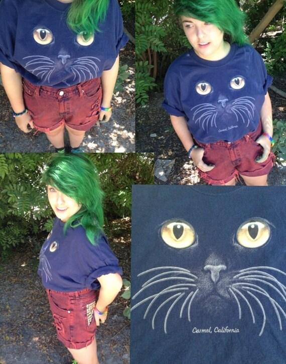 Cat Shirt Indie Hipster Punk Rock