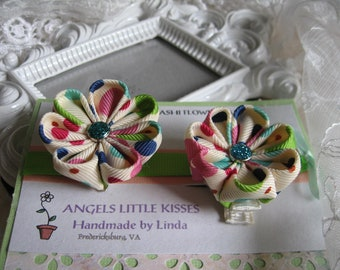 Kanzashi Flower Hair clip Set