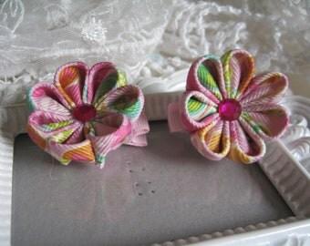 Kanzashi Flower Set of Two Hair clip
