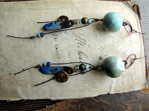 RESERVED agua - oceanic tribe earrings