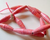 Pinky Hand Rolled Paper Beads