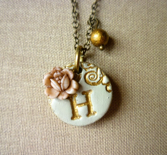Tiny pendant - Girl jewelry - Girl necklace - Flowergirl