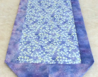 Centerpiece Cloth Table Runner Violet Leaf Wall Hanging