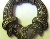 20 Percent Off Vintage Sterling Silver  Marcasite Pendant Necklace