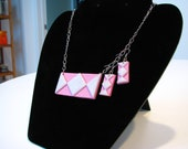 Pink Power Ranger Necklace and Earring Set