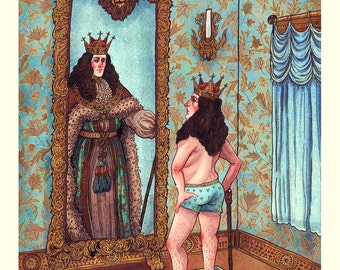 "The Emperor's New Clothes 8x10"" Print"